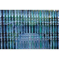 MARQUE GENERIQUE - Rideau de porte en perles bleues Stresa