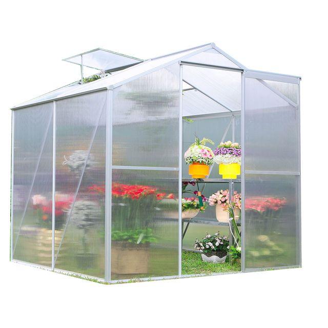 habrita serre jardin structure alu polycarbonate 4 mm. Black Bedroom Furniture Sets. Home Design Ideas