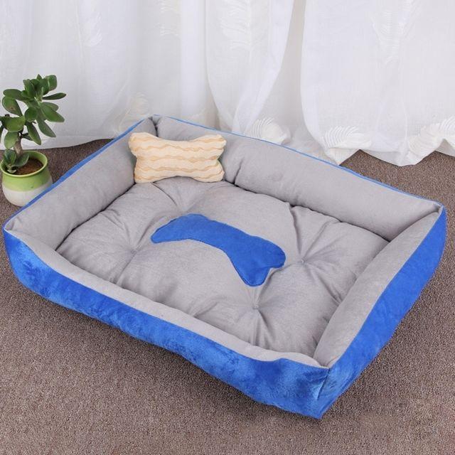 Wewoo Panier pour chien Coussin tapis de chat pour chien, motif chenil doux et doux, taille pour taille: S, 60 × 45 × 15 cm gr