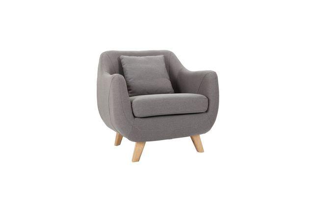 Miliboo Fauteuil design gris Skandi