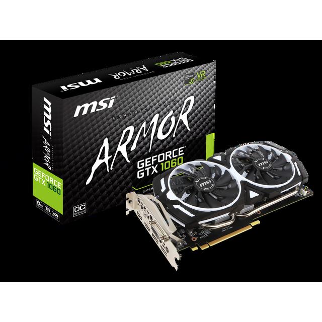 MSI GeForce GTX 1060 ARMOR 6Go DDR5 OCV1