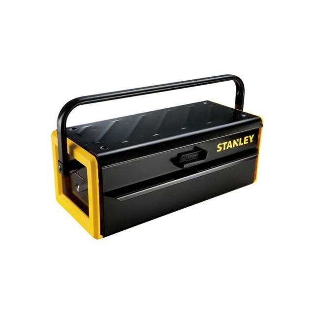 stanley caisse a outils m tallique 42cm pas cher. Black Bedroom Furniture Sets. Home Design Ideas