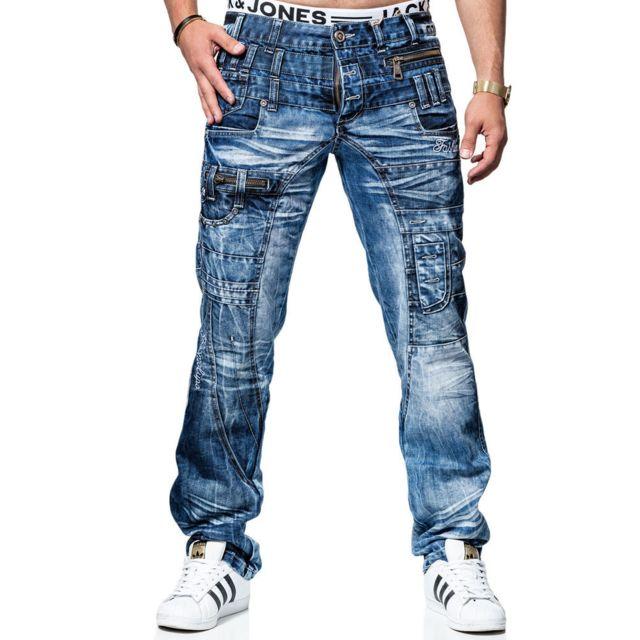 Kosmo Lupo Jean fashion Jean Kl020 bleu