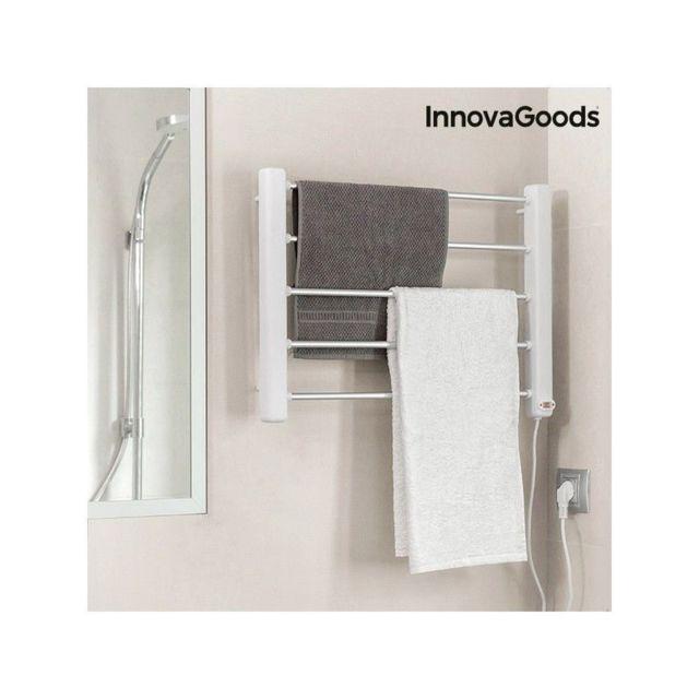Marque Inconnue - Porte-Serviettes Électrique Mural InnovaGoods 65W Blanc Gris 5 Barres Multicolore
