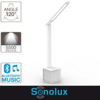 Xanlite - Lampe de bureau Led Sonolux, 550 lumens, haut parleur bluetooth