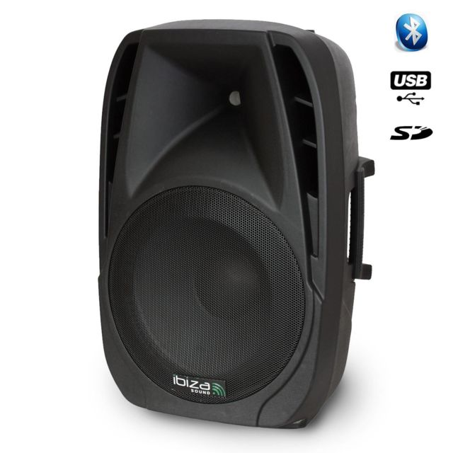 "Ibiza Enceinte active Bt12A 12""/30cm-450W Usb Sd Bt"