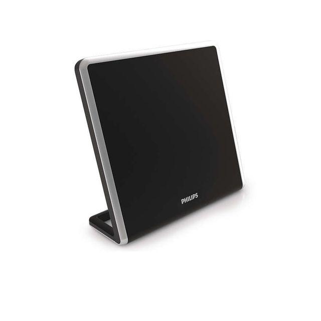 PHILIPS - Antenne design PLAT - 49 db - TNT HD - noir