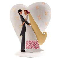 Dekora - Figurine les mariés métal, pour gâteau de mariage 18 cm