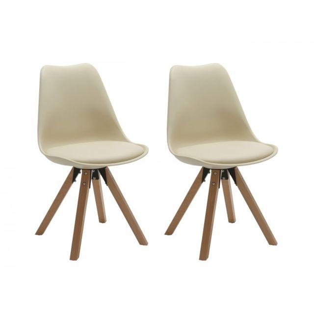 Soldes Decoshop26 Set De 2 Chaises De Salle A Manger Design Simili