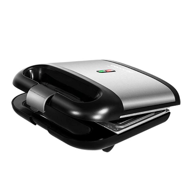 Totalcadeau Machine à sandwich avec surface anti adhérente en acier inoxydable 750W Noir