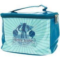 Promobo - Vanity Sac de Toilette Beauté Pin up Vintage Retro Active Bleu