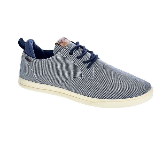 Pepe Jeans - Chaussures Pepe Jeans Homme Chaussures a lacets modele Bolton  Denim 4d9bbb73e99b