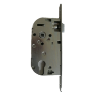 EURO-ELZETT - Coffre axe 40 NF métalux clé L gauche aspect inox variure 5 - sans gache réversible - G840XOD7K4L