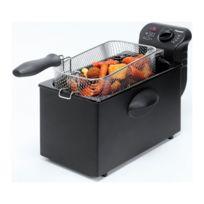 Bestron - Friteuse design noir - 3,5 litres - Entièrement démontable