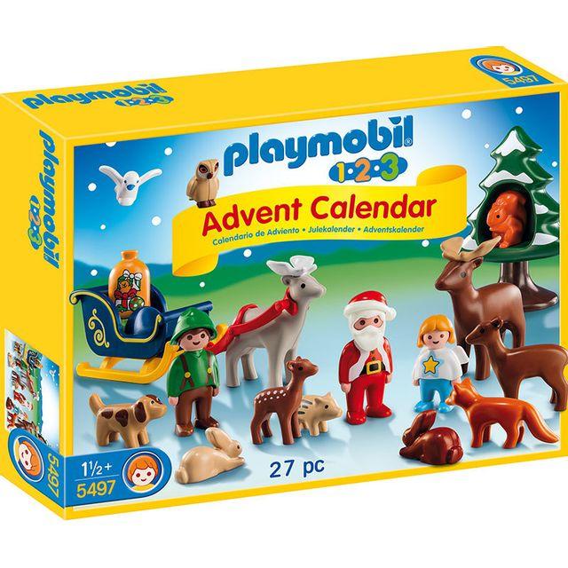 Playmobil Calendrier.Calendrier De L Avent 1 2 3 Pere Noel Et Les Animaux De La Foret 5497