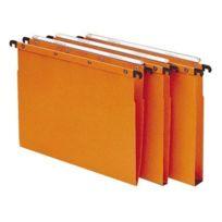 L'oblique A-z - L'Oblique Az - Pack 10 dossiers suspendus Azo kraft Orange pour tiroir fond V