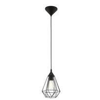 Eglo - Lampe pendante noire Tarbes D17,5 cm