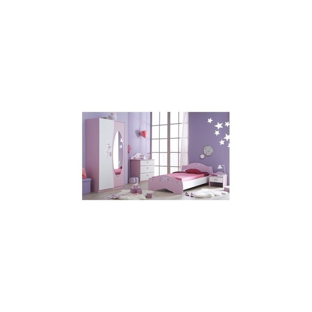 Rocambolesk Lit + chevet + commode papillon
