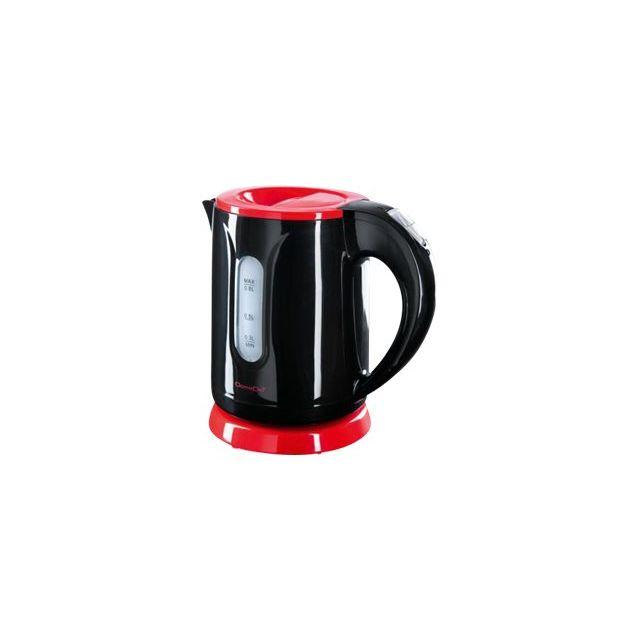 DOMOCLIP Bouilloire sans fil Mini Kitchen DOD114 Bouilloire sans fil - 0,8 L - Pivotant sur 360° - Réservoir d'eau visible - Filtre anti calcaire amovible et lavable - Emplacement pour ranger le câble électrique