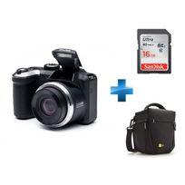 KODAK - Pack Débutant AZ365 + Housse case Logic TBC406K + Carte SD 16Go