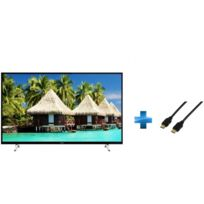 TECHWOOD - TV LED – - TK55DUHD2017 - 55'' + Cordon HDMI 1.4 - 1.5 mètres
