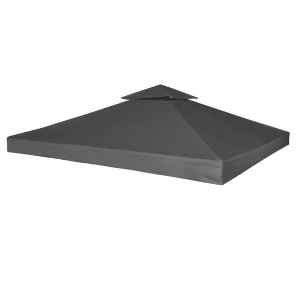 Rocambolesk - Superbe Toile de Rechange pour Gazebo Tonelle Gris foncé 270 g/m² neuf