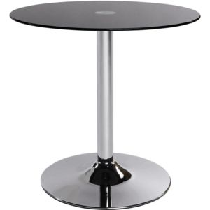 kokoon design table basse ronde vinyl verre noir pas cher achat vente tables basses. Black Bedroom Furniture Sets. Home Design Ideas