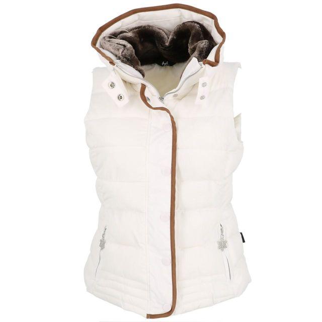Eldera Sportswear Doudounes sans manches Mary blanc sm doudoune l Blanc 28113