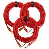 Pronomic - 3x Set Trendline Inst-6R câble à instrument 6 m rouge