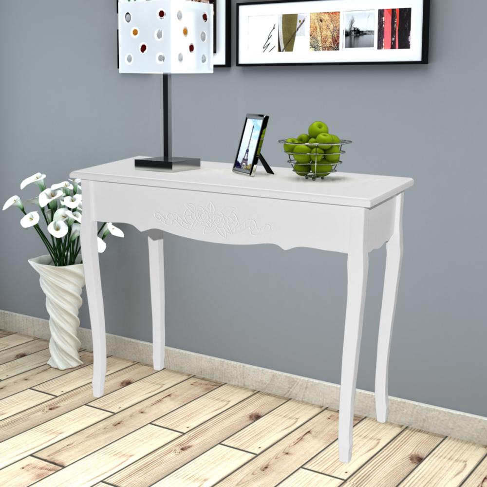 Vidaxl - Coiffeuse en bois blanche