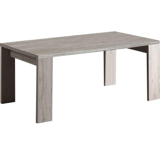 Comforium Table de salle à manger 183cm moderne coloris chêne