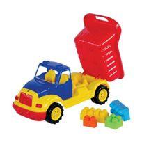 Siva - 10070-TON Trucks Kipplaster Avec Grands 38 Flocons Playmais Multicolores