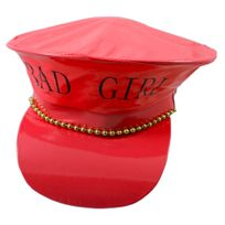 Folat - Casquette Policier Rouge Vernis Bad Girl - Adulte