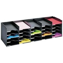 Paperflow - Bloc de classement 25 cases noir