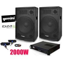 Gemini - Pack Sono Ampli , Enceintes Club15 2 x 700W