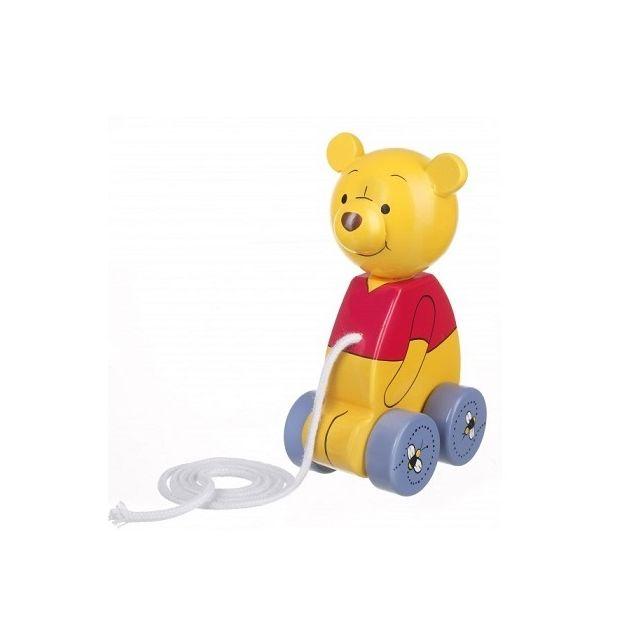 Otto Disney - Personnage Winnie the Pooh en bois 15 cm - Jouet a tirer Bebe