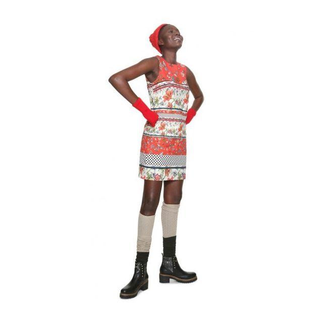 et Rouge Taille 40 Desigual Robe 18WWVWAA Desigual Femme Karin Motifs 8wIqXP