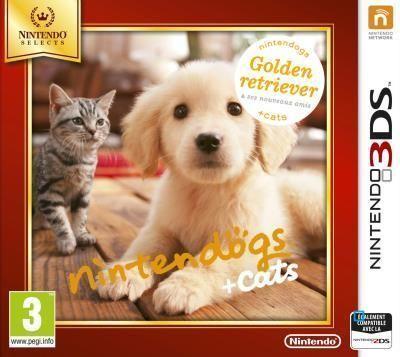 NINTENDO 3DS Select - Nintendogs + cats Golden Retriever & ses nouveaux amis