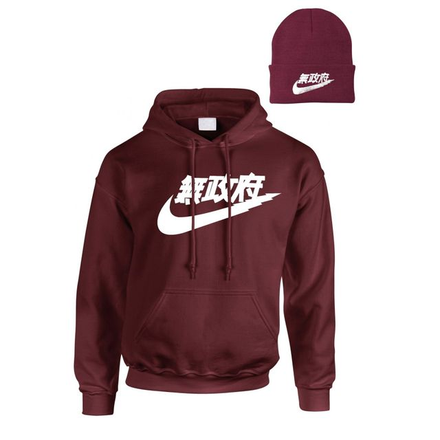 Magic custom - Air Tokyo - Pack Produit Sweat Capuche Et Bonnet Bordeaux