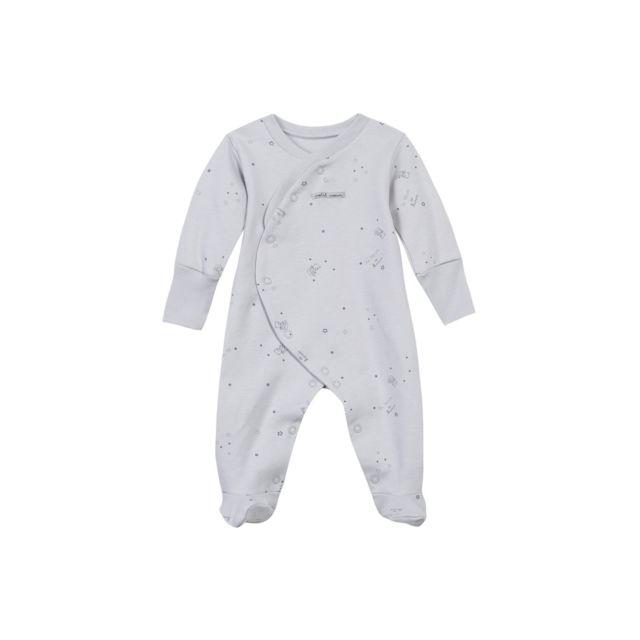 cd0d8bb44a87 Absorba - Dors bien coton bio imprimé ouvert devant gris - Du préma au 12  mois