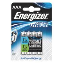 Energizer - Pile lithium Ultimate Aaa/LR03 - lot de 4