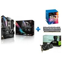 ASUS - Carte mère STRIX Z270E GAMING Socket 1151 - Chipset Z270 Kabylake + Processeur Intel Core i7-7700K 4.20GHz LGA1151 - KABYLAKE + Ballistix Sport LT 16 Go 2 x 8 Go DDR4 - 2400 Mhz - CAS 16 + GeForce GTX 1060 EX OC 6GB