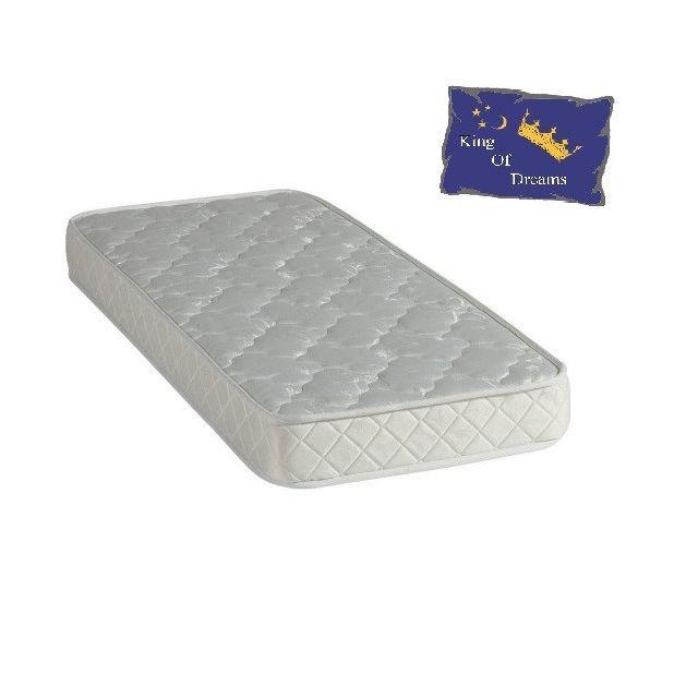 King Of Dreams Baby Dream Matelas 60x120 Mousse Poli Lattex - Hauteur 15 Cm - Anti-acariens Antibactériens Hypoallergénique