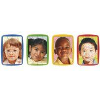 """Miniland - puzzles photo à cadre, de 20 pièces """"les enfants du monde"""" - lot de 4"""