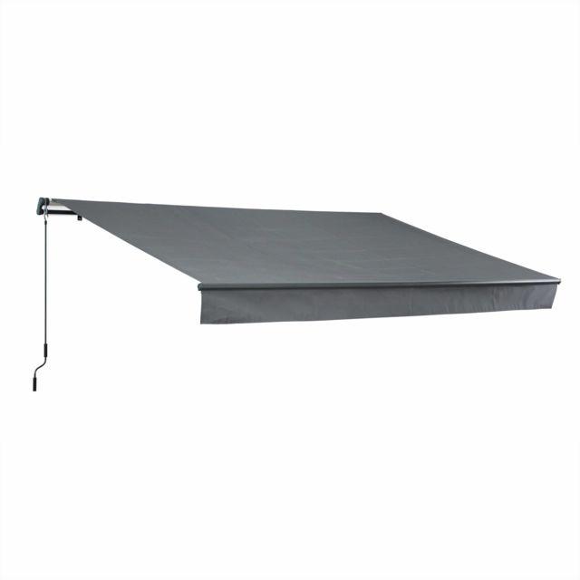 alice 39 s garden store banne alombra 4x2 5m gris monobloc aluminium syst me manuel sans. Black Bedroom Furniture Sets. Home Design Ideas