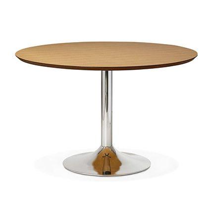 Table à manger 120cm bois et métal bois naturel - Letak