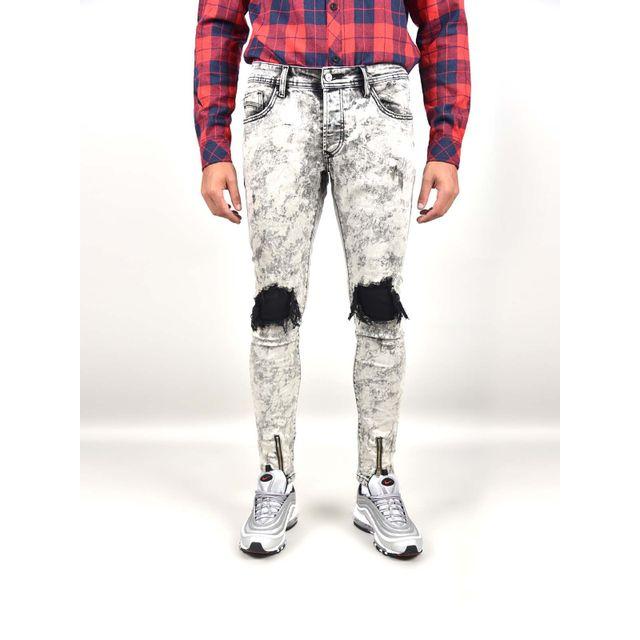 project x jean skinny destroy homme paris taille 34 couleur gris clair pas cher achat. Black Bedroom Furniture Sets. Home Design Ideas