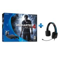 SONY - Pack Nouvelle PS4 1To D Black + Unchart 4 + Casque Tritton Kama PS4