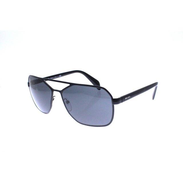 Prada - Spr 54R 7AX-1A1 - Lunettes de soleil homme Noir - pas cher Achat   Vente  Lunettes Aviateur - RueDuCommerce a077208d289