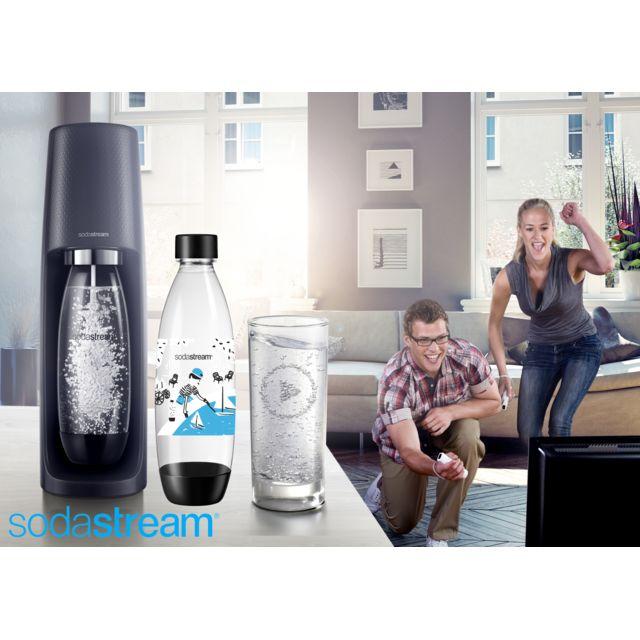 SODASTREAM Machine SPIRIT Noire + 1 bouteille Fuse \
